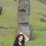 One of the great Morai Statues guarding Karen - Easter Island