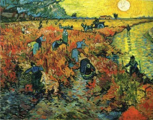 Vincent van Gogh's Red Vineyards, 1888