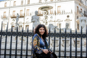 Karen at the Florentine Fountain - Palermo, Sicily